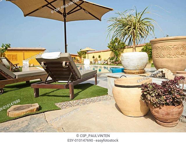 Luxury villa swimming pool