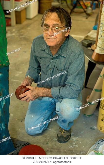 An experienced craftsman in his workshop