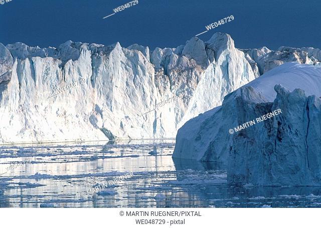 Iceberg Llulissat. Diskobay. Greenland. August