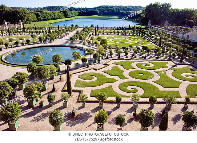 Versailles, France, Formal French Gardens at Chateau de Versailles