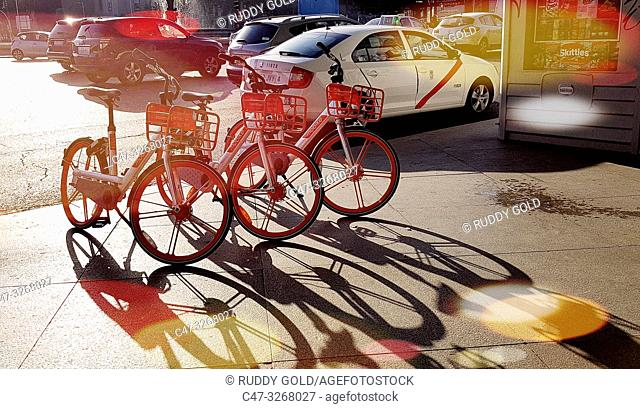 Mobike, Where you can pick up and leave a bike at your convenience provides an affordable means of shared transportation for convenient short urban trips