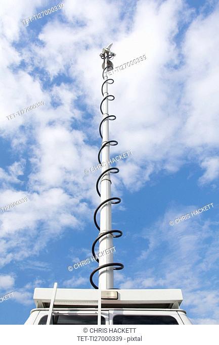 Antenna on top of car