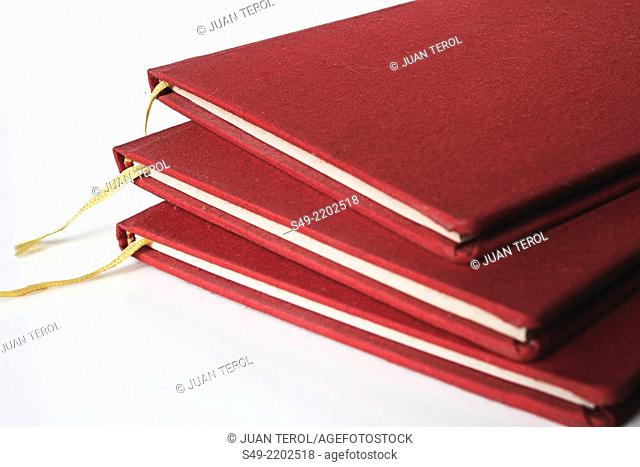 Red chinese notebooks
