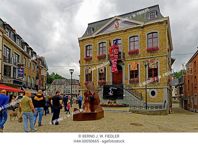 Administration municipal de La Smelling Roche-en-Ardenne, city hall, bra decoration, La Smelling Roche-en-Ardenne Belgium