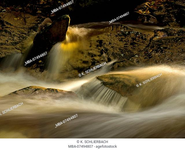 Europe, Germany, Saxony-Anhalt, Harz National Park, autumn at the Ilse, Ilsetal, Ilsenburg