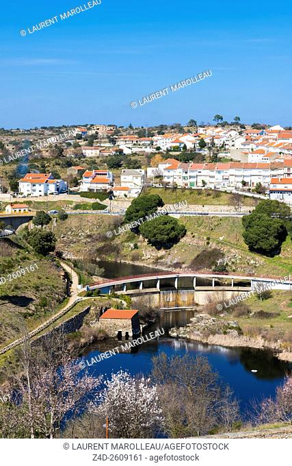 Urban Park of the River Fresno at Miranda do Douro, Braganca District, Norte Region, Portugal, Europe