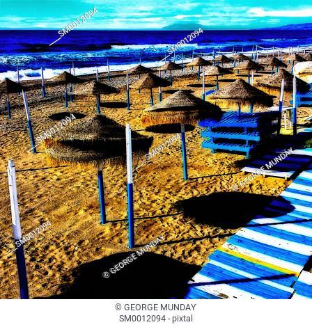 Off season on Torrox Beach,