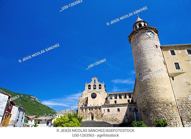 Church of San Salvador monastery, built in XI Century, in Oña, small town of Burgos province