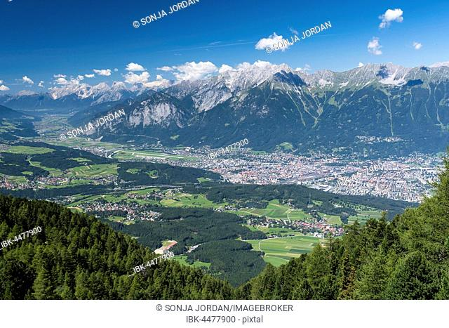 View from Patscherkofel of northern chain of the Alps, Innsbruck, Tyrol, Austria