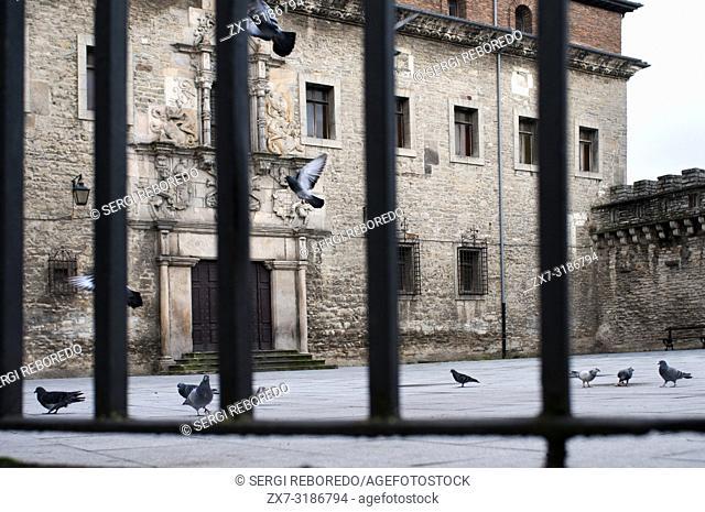 Inside medieval fortification Vitoria-Gasteiz old town Euskadi Spain