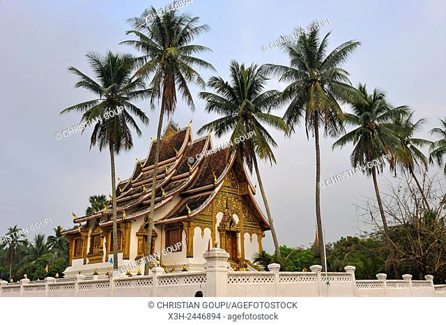 Haw Pha Bang temple built on the grounds of the Royal Palace Museum to enshrine the Phra Bang Buddha, the most highly reverred Buddha image in the country