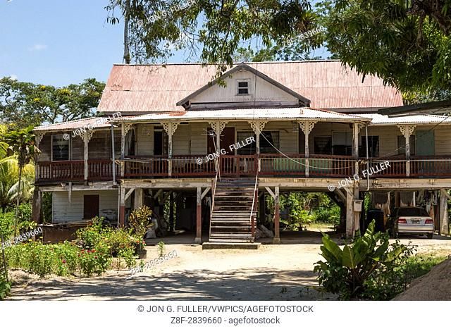 Former plantation overseer's house of the Pepperpot Plantation, formerly a coffee and cacao plantation near Paramaribo, Suriname