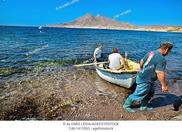 Isleta del Moro fishing village, Natural Reserve of Cabo de Gata-Ni'jar  Almeri'a province, Spain