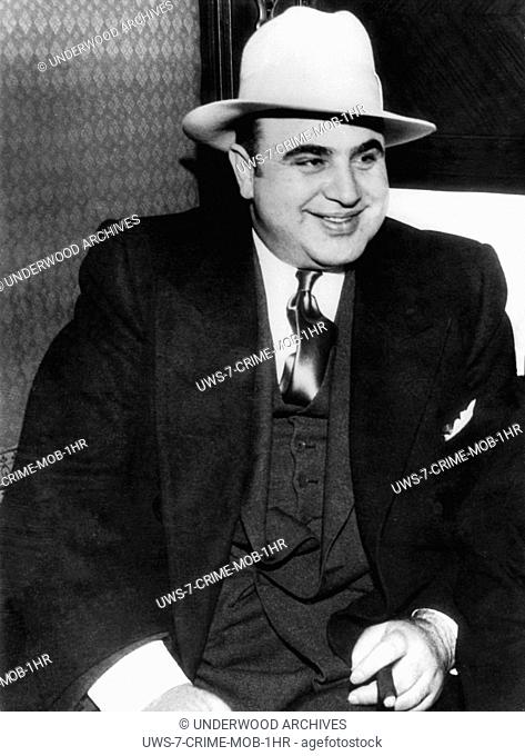 Chicago, Illinois: January 1, 1930.A portrait of American gangster, Al Capone
