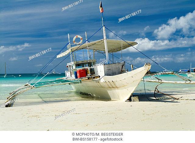 boat on White Beach, Philippines, Boracay