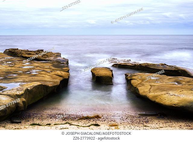 seascape, rocky coast. La Jolla, California, USA