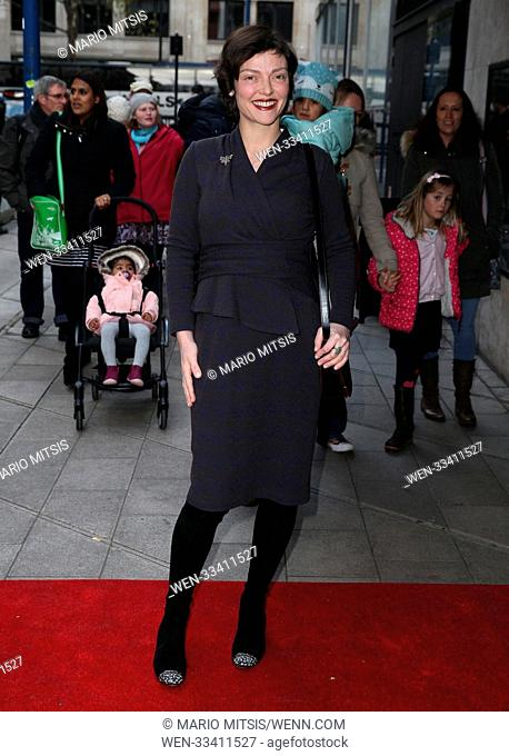 The 20th Anniversary Gala Performance of 'The Snowman' held at The Peacock Theatre - Arrivals Featuring: Camilla Rutherford, Max Rogers