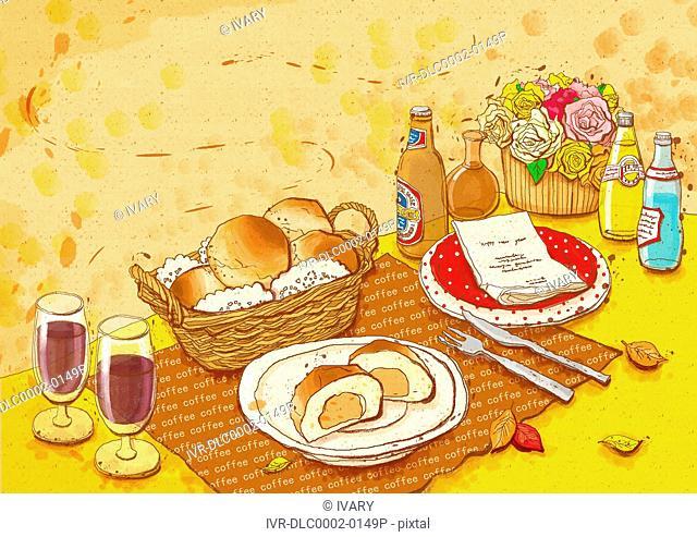 Illustration of food stuff