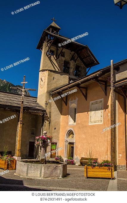 village of queyras regional park. France
