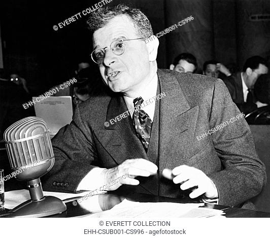 Sidney Hillman, Associate Director of the OPM (Office of Production Management). He testified to the Special Defense Committee that