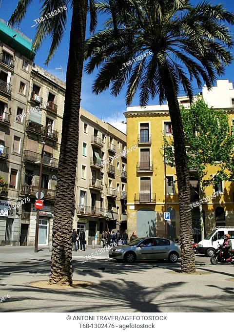Rambla del Raval, Barcelona, Catalonia, Spain