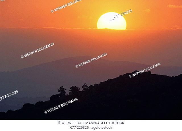 Sunset. Extremadura. Spain