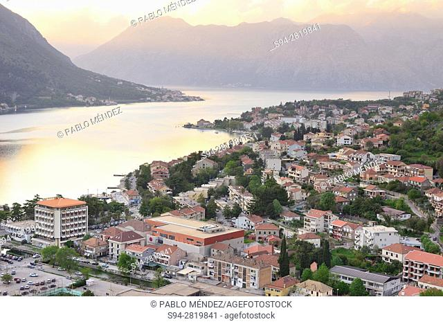 View of Kotor and its bay, Kotor, Montenegro