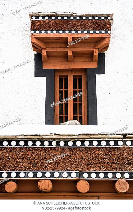 Window detail. Hemis gompa. Indus valley, Ladakh (india)