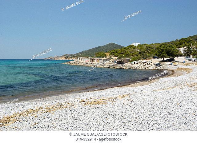 Codolar beach, Ses Salines. Ibiza, Balearic Islands. Spain