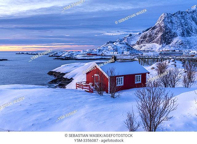 Hamnøya, Moskenesøya, Lofoten, Nordland, Norway, Europe