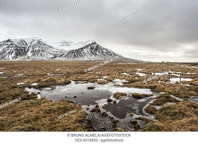 Hafursfell mountains in Snæfellsnes peninsula (region of Vesturland, Iceland)