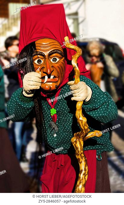 "Swabian-Alemannic carnival ""Fasnet"" in Buehl, South Germany-Baden Wuerttemberg, Germany, Europe"