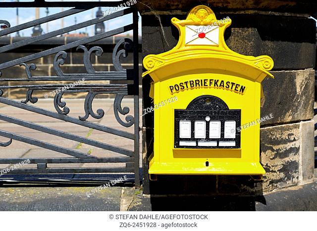 Letter Box in Dresden, Saxony, Germany