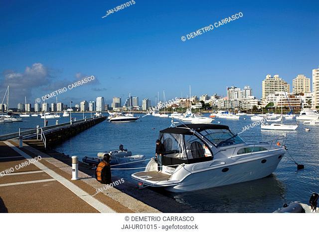 Port and sailing boats, Punta del Este, Uruguay