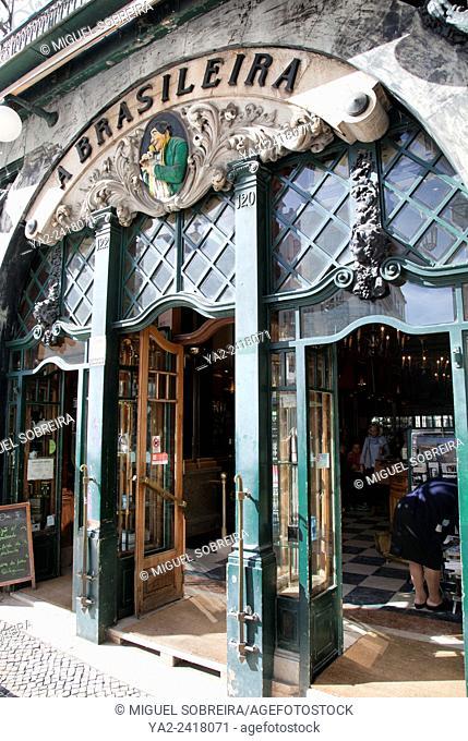 A Brasileira cafe in Baixa-Chiado in Lisbon - portugal