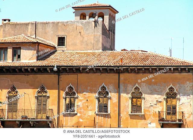 The old city of Verona Veneto Italy