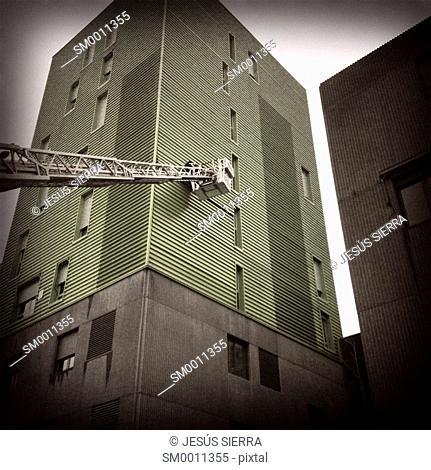 Fireman working in Madrid. Spain
