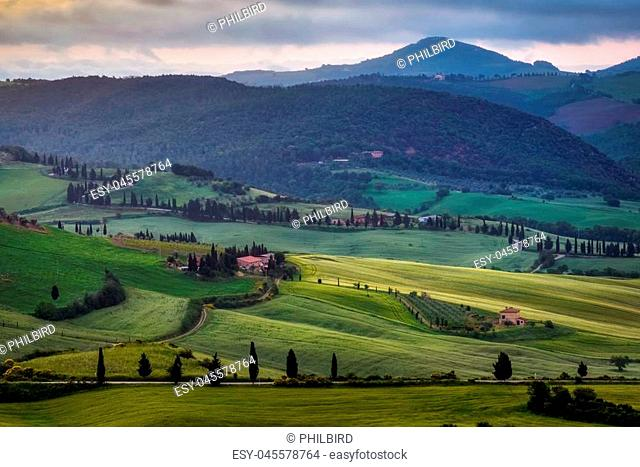 View of Val d'Orcia in Tuscany