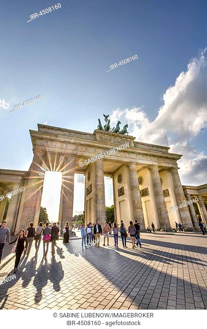 Brandenburg Gate, Pariser Platz, Berlin-Mitte, Berlin, Germany