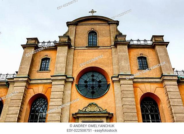 Cathedral of Saint Nicholas (Storkyrkan) Facade, Stockholm, Swed