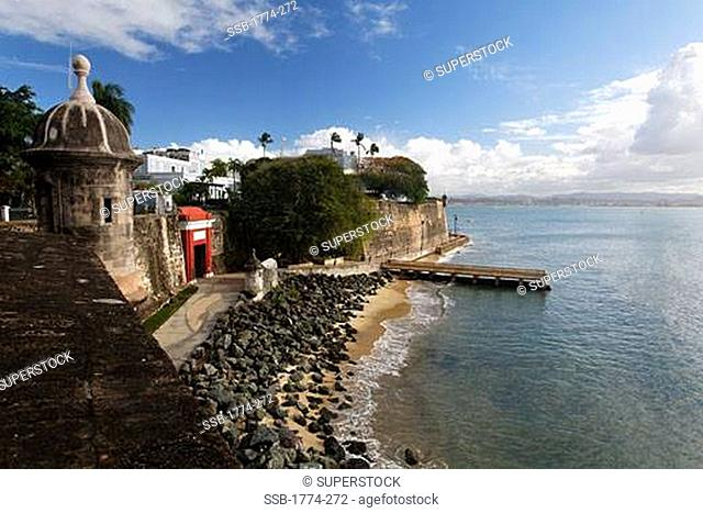 View of the Main Gate of the City with the City Walls, Old San Juan, Puerto Rico
