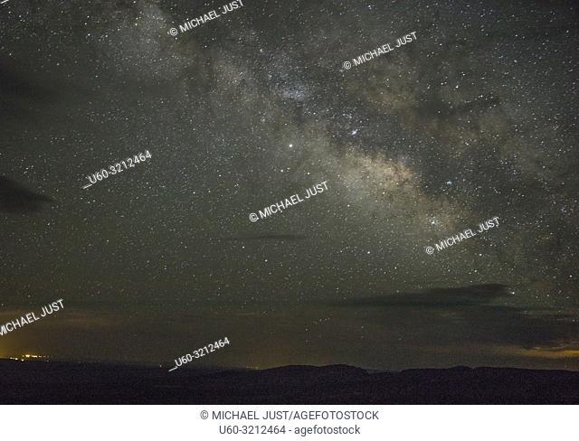 The Milky Way comes alove over the Grand Canyon at Grand Canyon National Park, Arizona