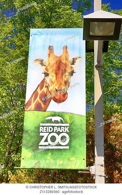 Banner hanging outside of Reid Park Zoo in Tucson, AZ