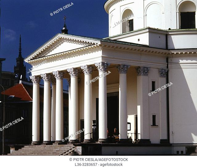 Poland. Warsaw. Neoclassical St Alexander Church