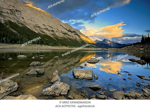Medicine Lake in the Canadian Rocky Mountains Jasper National Park Alberta Canada