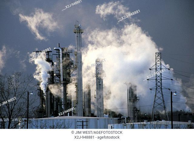 Detroit, Michigan - Marathon oil refinery