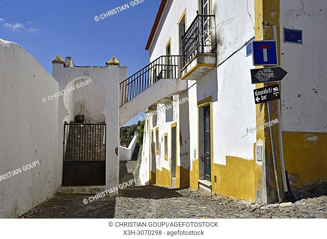 alley at Mertola, Alentejo region, Portugal, southwertern Europe