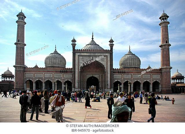 Jami Masjid Mosque, Delhi, Uttar Pradesh, India, Asia