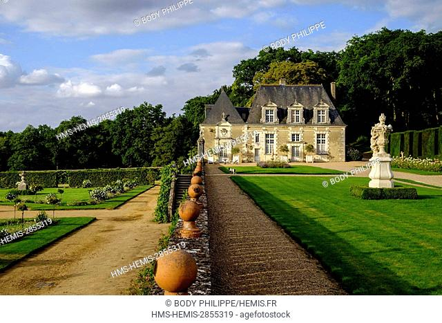France, Indre et Loire, Loire Valley listed as World Heritage by UNESCO, Castle and Gardens of Valmer, 16 th century, renaissance style