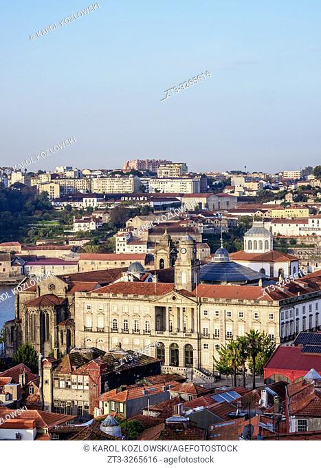 Palacio da Bolsa, Stock Exchange Palace, elevated view, Porto, Portugal